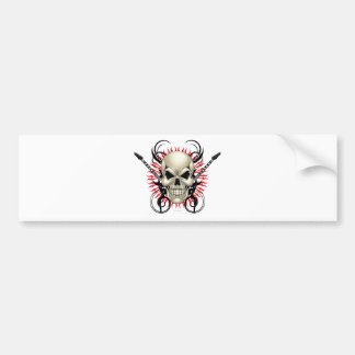 Metal Skull and Guitars design Bumper Sticker