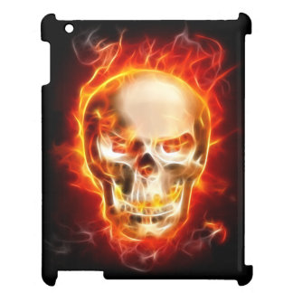 Metal Skull On Fire iPad Cases