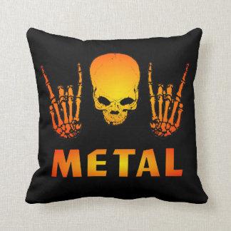 Metal Skull Pillow