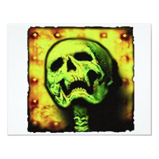 metal skull plate 4.25x5.5 paper invitation card