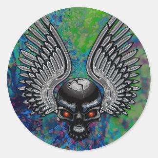 Metal Skull Sticker