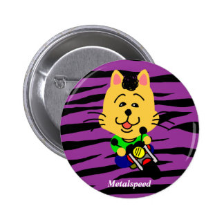 Metal speed full opening dechiyuka? Cat badge Button