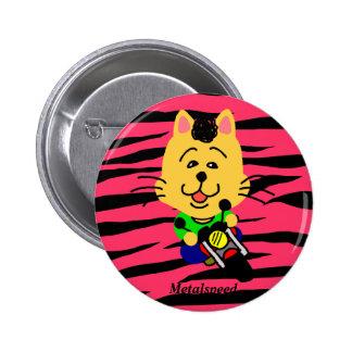Metal speed full opening dechiyuka? Cat badge Pinback Button