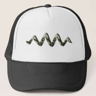 metal spiral trucker hat