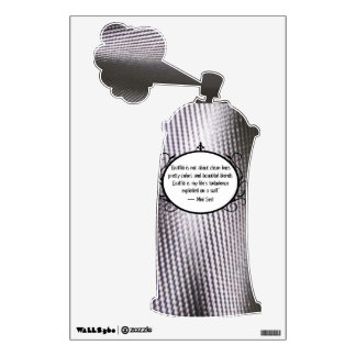 Metal Spray Can Wall Decal