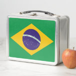 """Metal Stainless Lunchbox with Brazil flag<br><div class=""""desc"""">Elegant Metal Stainless Lunchbox with flag of Brazil. This product its customizable. Adorable and durable, our metal lunch box is perfect for those in love with the classic style. Customize the front and back with images, text and designs for a fabulously fun lunch time for your kids or yourself! Dimensions:...</div>"""