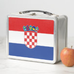 """Metal Stainless Lunchbox with Croatia flag<br><div class=""""desc"""">Elegant Metal Stainless Lunchbox with flag of Croatia. This product its customizable. Adorable and durable, our metal lunch box is perfect for those in love with the classic style. Customize the front and back with images, text and designs for a fabulously fun lunch time for your kids or yourself! Dimensions:...</div>"""