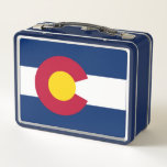 """Metal Stainless Lunchbox with flag of Colorado<br><div class=""""desc"""">Elegant Metal Stainless Lunchbox with flag of Colorado State, United States of America. Adorable and durable, our metal lunch box is perfect for those in love with the classic style. Customize the front and back with images, text and designs for a fabulously fun lunch time for your kids or yourself!...</div>"""