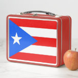 """Metal Stainless Lunchbox with flag of Puerto Rico<br><div class=""""desc"""">Elegant Metal Stainless Lunchbox with flag of Puerto Rico State, United States of America. Adorable and durable, our metal lunch box is perfect for those in love with the classic style. Customize the front and back with images, text and designs for a fabulously fun lunch time for your kids or...</div>"""