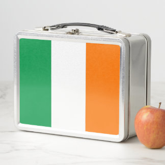 Metal Stainless Lunchbox with Ireland flag