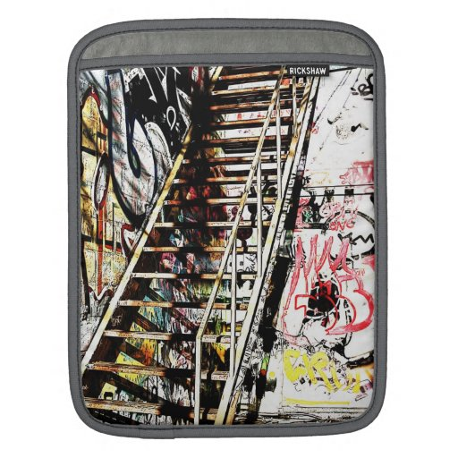 metal staircase with graffiti wall iPad sleeves