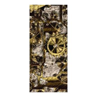 Metal Steampunk 4x9.25 Paper Invitation Card