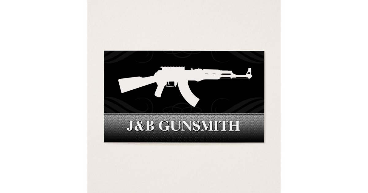 Metal Steel and Guns Gun Shop Business Cards | Zazzle.com