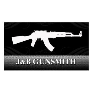 Metal Steel and Guns Gun Shop Business Cards