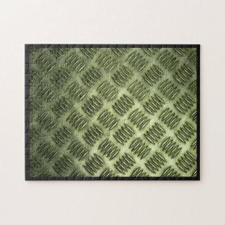 Metal Steel Checkered Flooring Diagonal Texture Jigsaw Puzzle