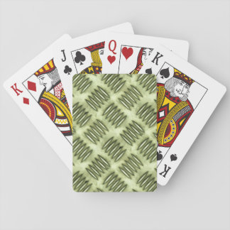 Metal Steel Checkered Flooring Diagonal Texture Playing Cards