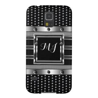 Metal Studs look Metal look Chrome Men's Case For Galaxy S5