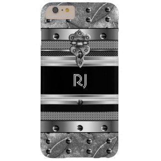 Metal Studs Metal Chrome look Monogram 3 Barely There iPhone 6 Plus Case