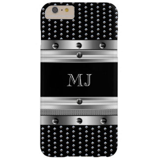 Metal Studs Metal look Chrome Monogram Barely There iPhone 6 Plus Case