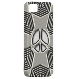 Metal Style Peace Sign iPhone SE/5/5s Case