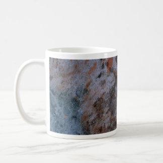 Metal sucedáneo colorido taza básica blanca