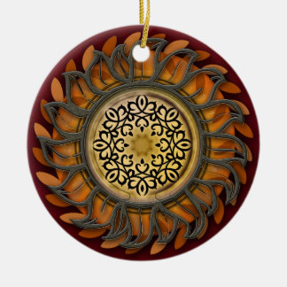 Metal Sun Splendor Ceramic Ornament
