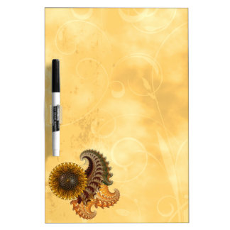 Metal Sunflower Dry Erase Board