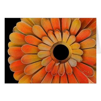 Metal Sunflower Greeting Card