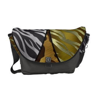 Metal Texture Kitty Paws/Zebra Gold,silver Bag Courier Bags