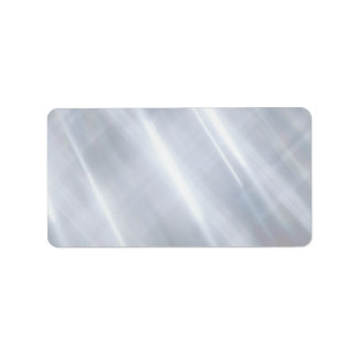 Metal texture personalized address labels