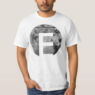 Metal Textured Circular Custom Letter Design T-Shirt