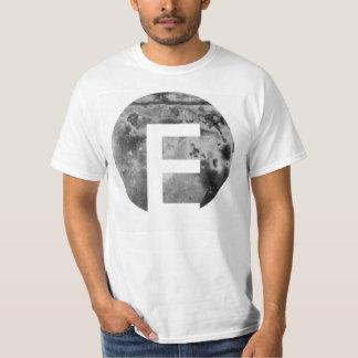 Metal Textured Circular Custom Letter Design T-Shirt