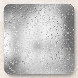 Metal texturizado falsa plata 015 posavasos de bebidas