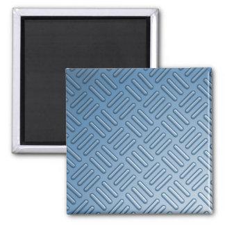 Metal topado azul texturizado imán cuadrado