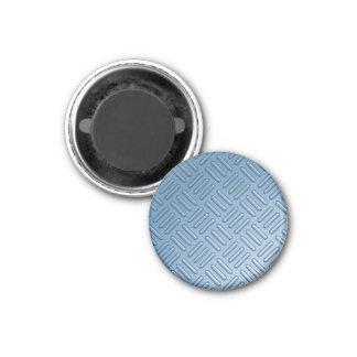 Metal topado azul texturizado imán redondo 3 cm