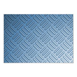 "Metal topado azul texturizado invitación 3.5"" x 5"""
