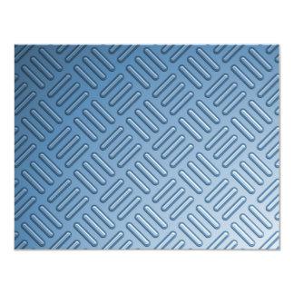 "Metal topado azul texturizado invitación 4.25"" x 5.5"""