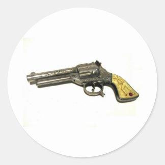 Metal Toy Gun Stickers