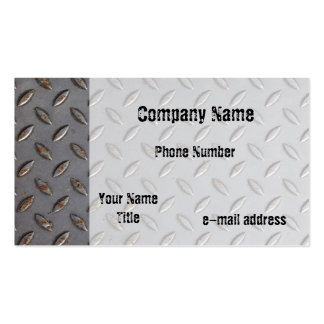 Metal Tread plate Business Cards