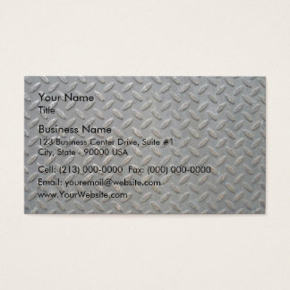 Metal Tread Texture Business Card