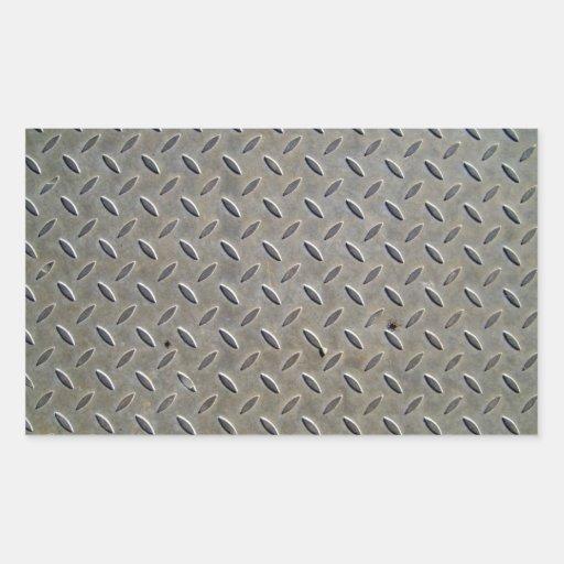 Metal Tread Texture Rectangular Sticker