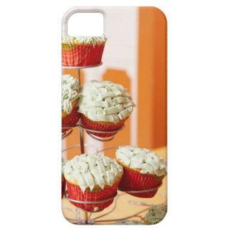 Metal tree displaying frosted cupcakes iPhone 5 case