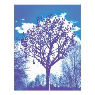 metal tree dull blue letterhead