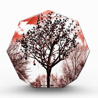 metal tree on the field digital photo red tint award