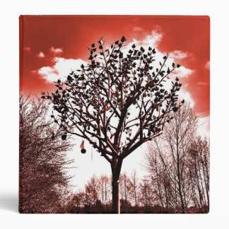metal tree on the field digital photo red tint binder