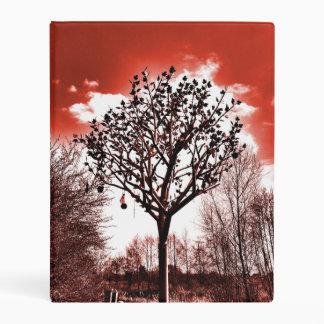 metal tree on the field digital photo red tint mini binder