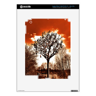 metal tree on the field orange tint decal for iPad 3