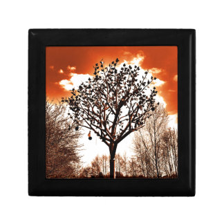 metal tree on the field orange tint keepsake box
