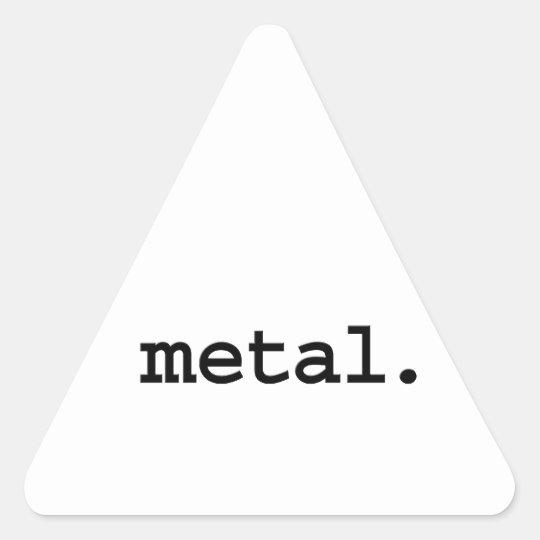 metal. triangle sticker
