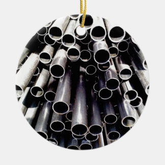 metal tube ends ceramic ornament